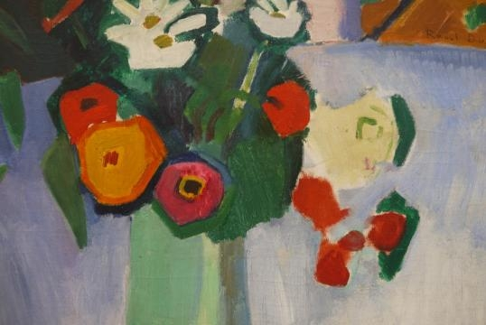 Raoul Dufy. Detalle de Jeanne entre las flores. 1907