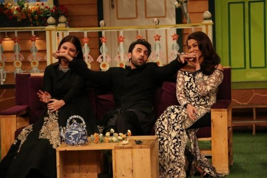 Pics: Ranbir, Ash and Anushka Have a Ball on The Kapil Sharma Show ... - thequint.com