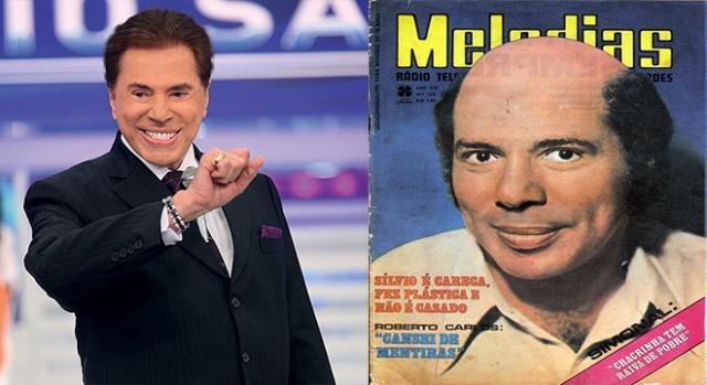 Edição da revista Melodias em que Silvio Santos aparece careca.