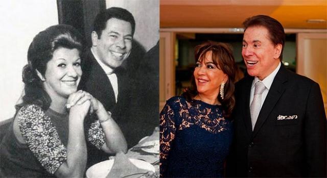 Silvio na companhia da esposa.