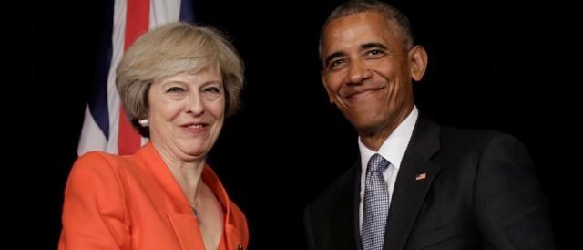 Theresa May con Barack Obama, il Regno Unito continua ad essere un fedele alleato statunitense
