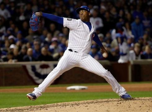 Chapman, Cubs stop Indians, cut World Series deficit to 3-2 ... - seattlepi.com