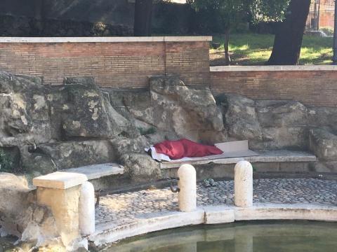 Fontana del Ninfeo all'interno del Parco