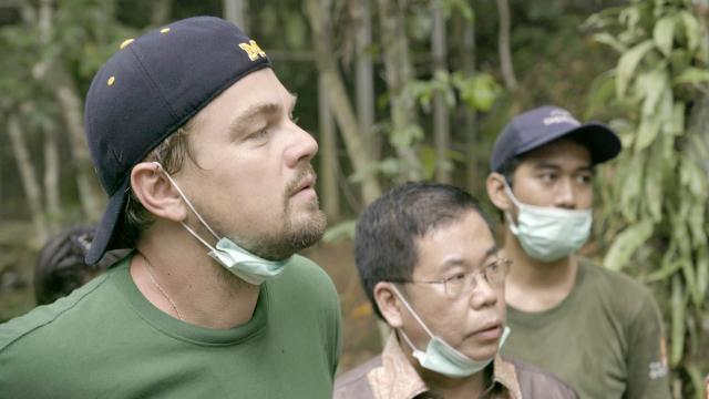 L'attore in una scena del documentario
