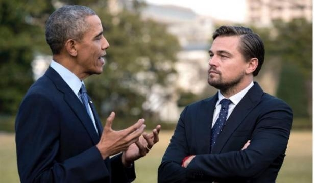 Leonardo DiCaprio incontra Barack Obama durante la presentazione del documentario - VanityFair.it - vanityfair.it