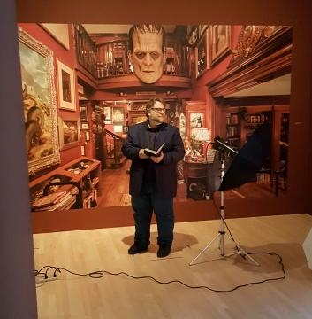 Director and Screenwriter, Guillermo Del Toro at LACMA's Press Preview (photo credit: Odette Perez)