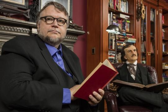 Guillermo Del Toro at his Bleak House in L.A. (photo credit: LACMA)