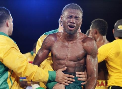 Jamacian featherweight Nicholas Walters fight with Daulis Prescott 2012 / Photo by Gilbert Bellamy, Blasting News library