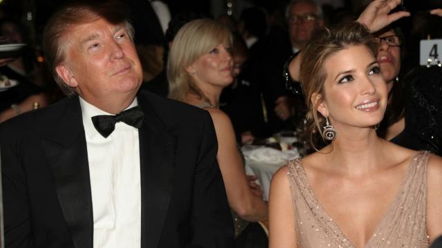 Donald Trump e sua figlia Ivanka.