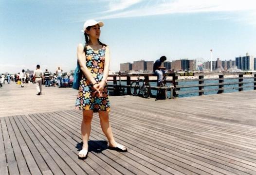 Chasing sun at Coney Island beach, Brooklyn.