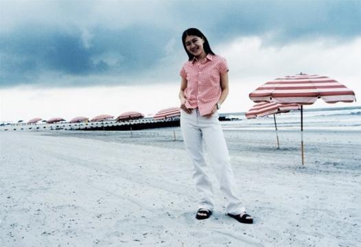 Summer holiday at Atlantic City Beach, New Jersey.