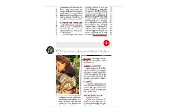 Il settimanale Chi svela che Stefano De Martino ha una fidanzata 'non famosa'.