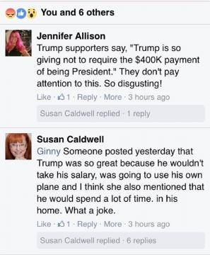 Americans upset over the cost of securing Trump's family in New York / Photo via facebook Susan Caldwell