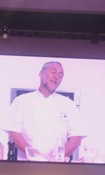 Michel Roux Junior during a cooking demonstration at The BBC Good Food Show