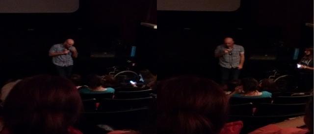 Nicolás Herzog durante las preguntas del público