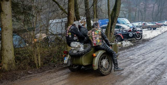 motociclette Zundapp -KS-601-Gespanne