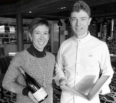 Jean et Magali Sulpice dans leurs restaurant l'Oxalys a Val Thorens