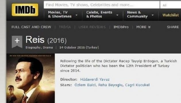 IMDb vs. Dictator Erdoğan scandal: Introduction text