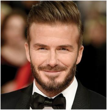 Football superstar: David Beckham