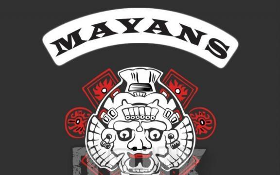 Le logo présent sur la veste des membres du Mayan Motor Club