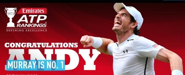 La web de la ATP da la enhorabuena al nuevo Numero 1