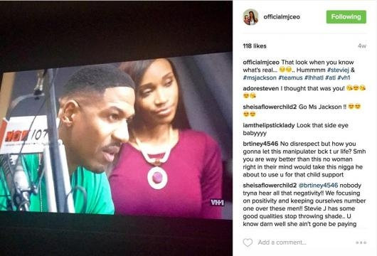 Stevie J and Ms. Jackson posted to her Instagram account