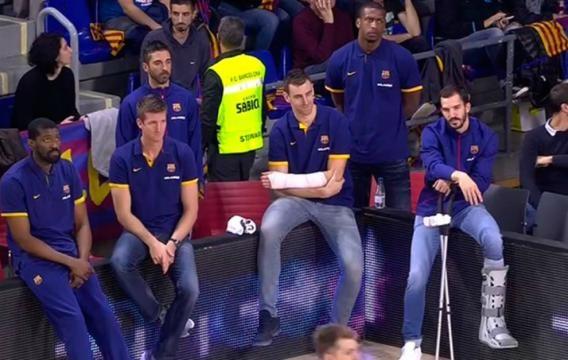 Hasta 5 jugadores del Barcelona lesionados hoy