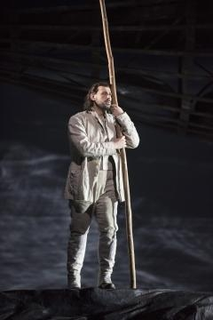 Italian tenor Michele Angelini debuted as Ruodi, a fisherman. Photo: Jonathan Tichler, courtesy of Metropolitan Opera, used with permission.
