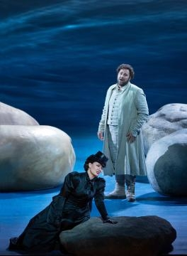 Swiss Arnold (Bryan Hymel) and Austrian Mathilde (Marina Rebeka) should not be in love. Photo: Marty Sohl/Metropolitan Opera, used with permission.