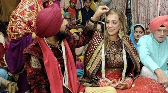Yuvraj Singh - Hazel Keech wedding in Punjab (Toutube screengrab)