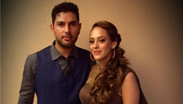 Yuvraj Singh - Hazel Keech wedding (Toutube screengrab)