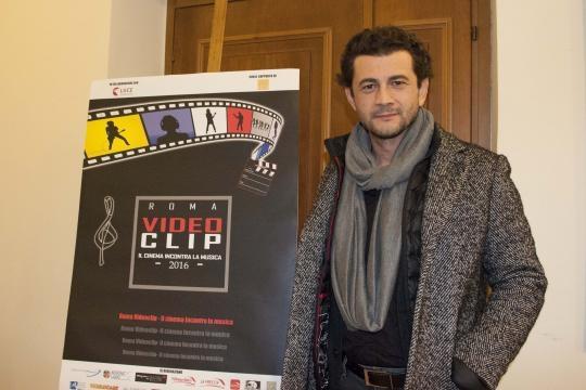 L'attore Vinicio Marchioni al Roma Videoclip