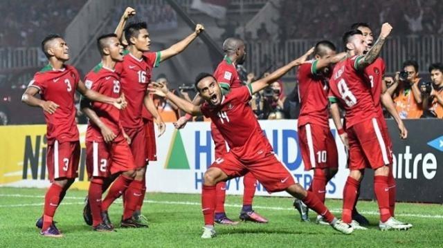 Team Garuda celebrate the goals / jawapos.com