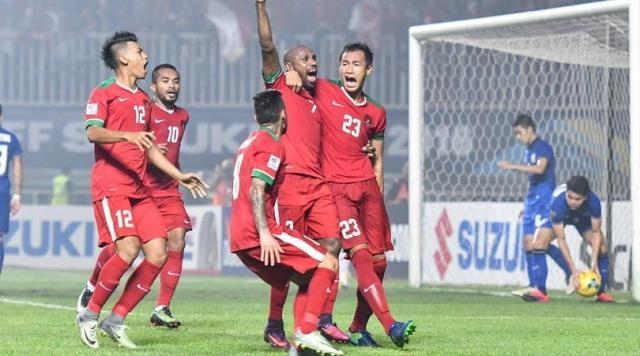 Team Garuda celebrate the first goal / fourfourtwo.com