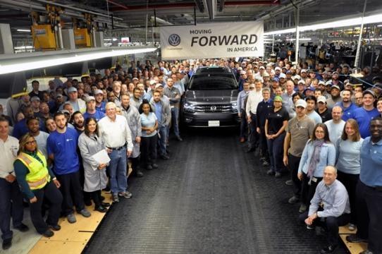 Fábrica da Volkswagen onde é feito o Atlas é a mesma onde é feito o Passat norte-americano