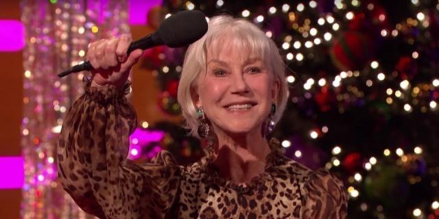 Helen Mirren gave an alternative Queen's speech on The Graham Norton Show for Christmas/Photo via digitalspy.com