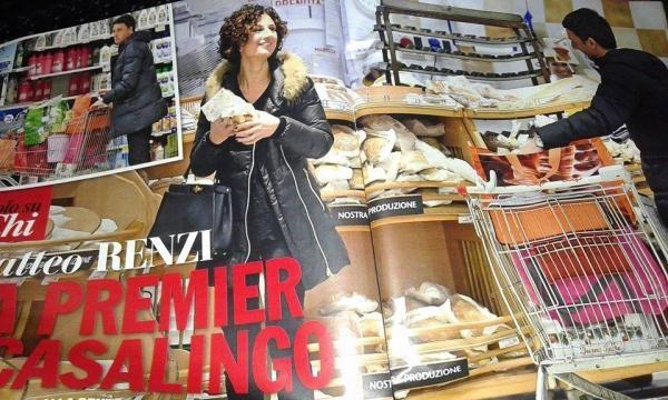 L'ex premier al supermercato con la moglie Agnese