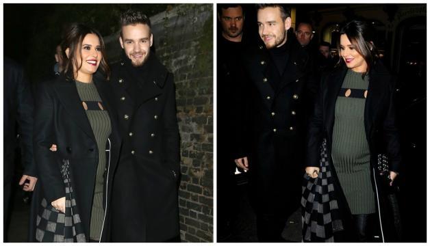 A barriguinha de Cheryl junto com Liam Payne