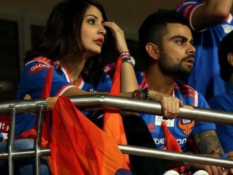 Anushka watching the game Ind vs Eng. - ndtv.com