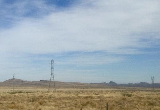 La planicie que seca entre Ciudad Juárez y Chihuahua.