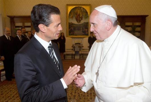 Enrique Peña Nieto y el Papa Francisco