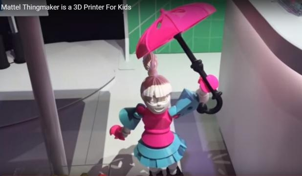 Stampante 3D Mattel per i giocattoli