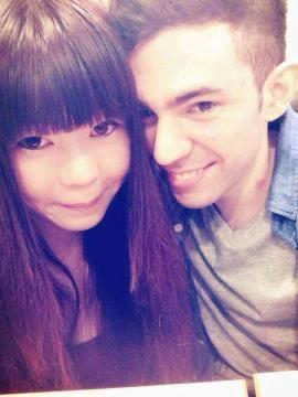 Leonel Orsi y Yu-Hsuan Chang, su esposa