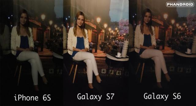 iPhone 6S vs Galaxy S7 vs Galaxy S6 confronto foto