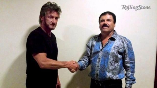 Sean Penn con el Chapo el día de su entrevista