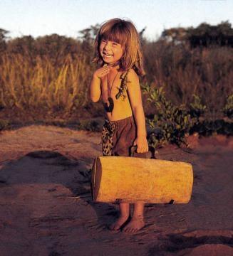 Tippi passou os seus primeiros anos na selva