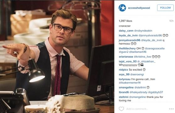 Actor Chris Hemsworth in Ghostbusters Reboot