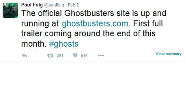 Paul Feig Announcing Ghostbusters News
