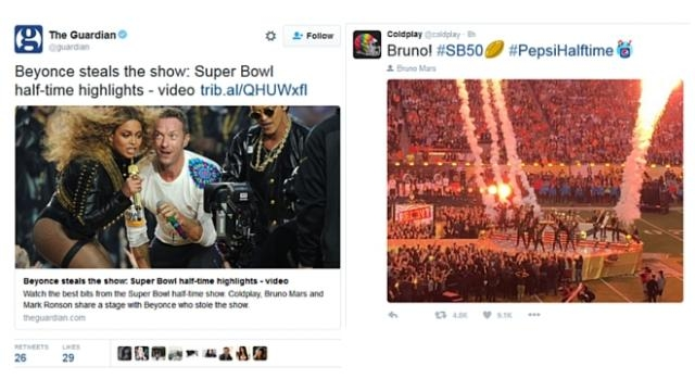 Beyonce Halftime with Coldplay and Bruno Mars