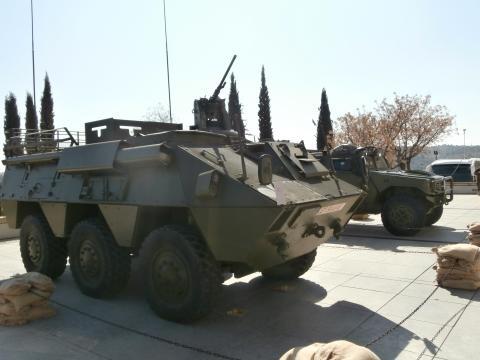 Vehículos usados en la misión afgana.